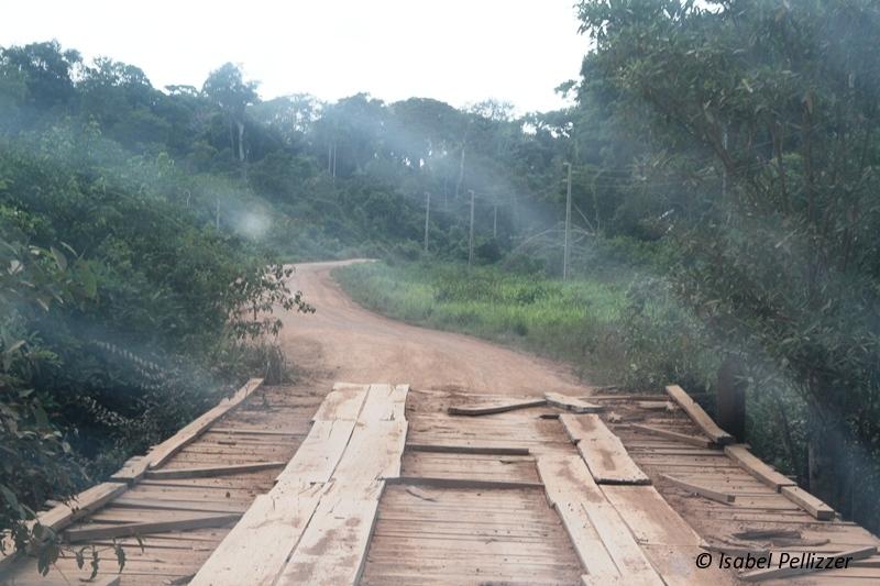 uma das várias pontes na rodovia MT-208