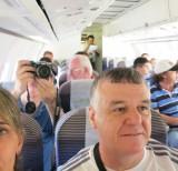 dentro avião rumo Barcelos